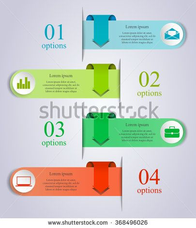 Abstract business process infographics arrow template Can be used - process flow chart template