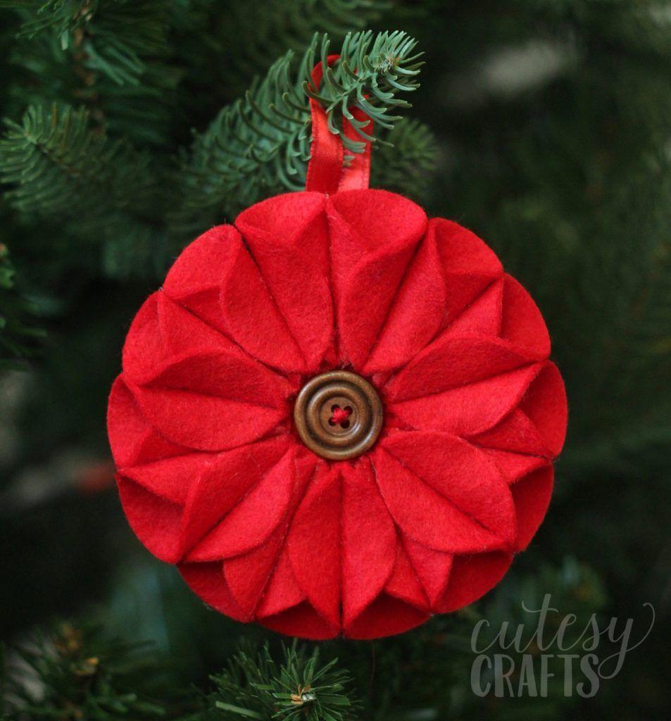 DIY Holiday Decoration: Poinsettia Ornament