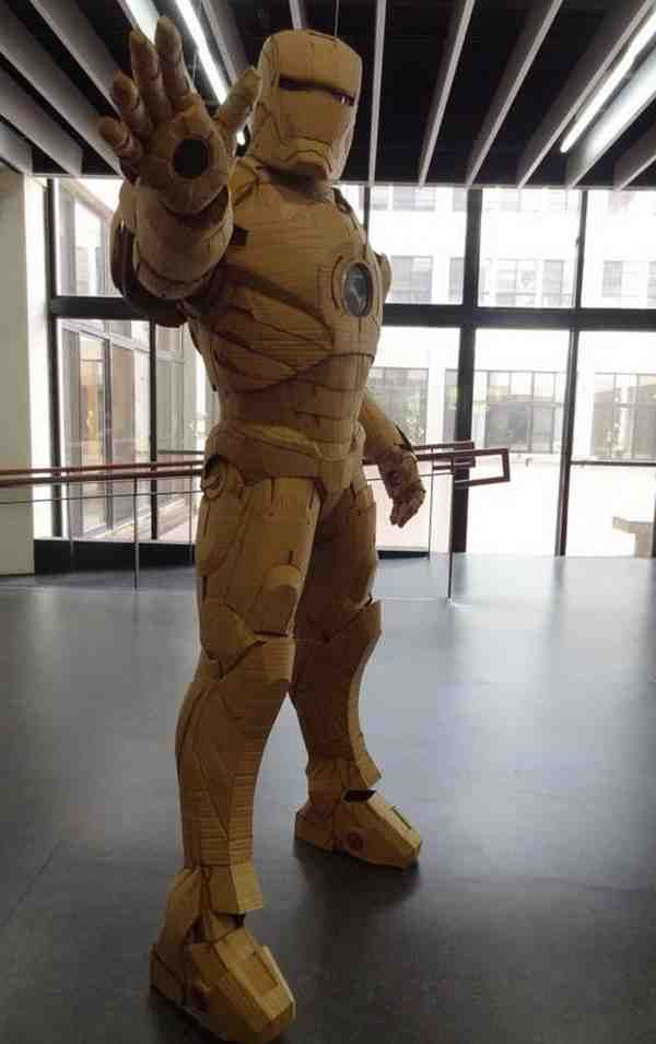 Iron Man Cardboard : cardboard, Do-It-Yourself, Ideas, Ironman, Costume,