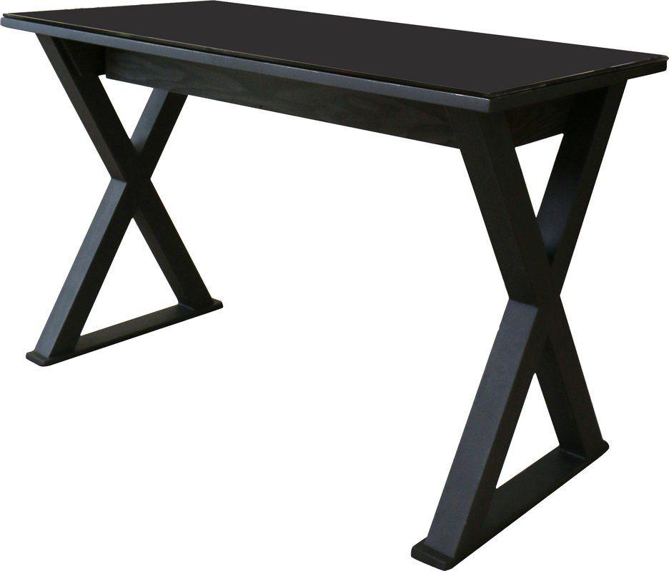 Montclair Campaign Writing Desk Glass Desk Writing Desk Solid Wood Desk