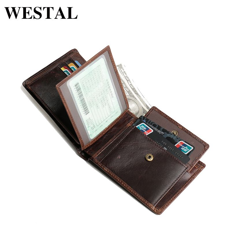 6f4dec972fe6 WESTAL Vintage Genuine Leather Men Wallets Leather Wallet Credit Card Man  Purse Male Wallet Men s Small Wallets Card Holder 8866  Affiliate