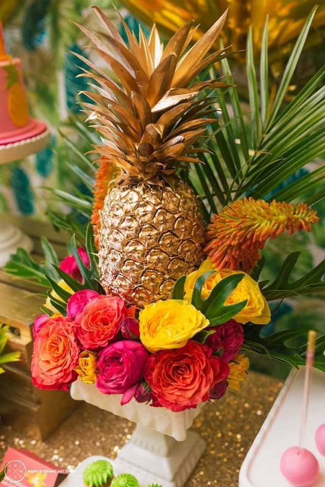 20 pineapple wedding decor ideas for Ananas dekoration