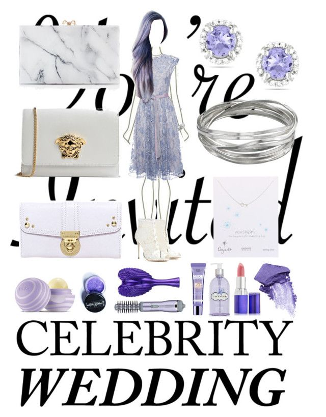 """#celebritywedding"" by parcocafe ❤ liked on Polyvore featuring Whistles, LUISA BECCARIA, Ice, Dolce&Gabbana, Dogeared, Charlotte Olympia, Versace, Hayden-Harnett, Eos and Manic Panic"
