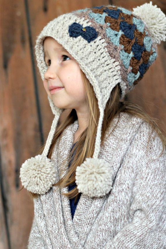 Zoey Hat Crochet Pattern by CrocheTrend on Etsy | croche | Pinterest