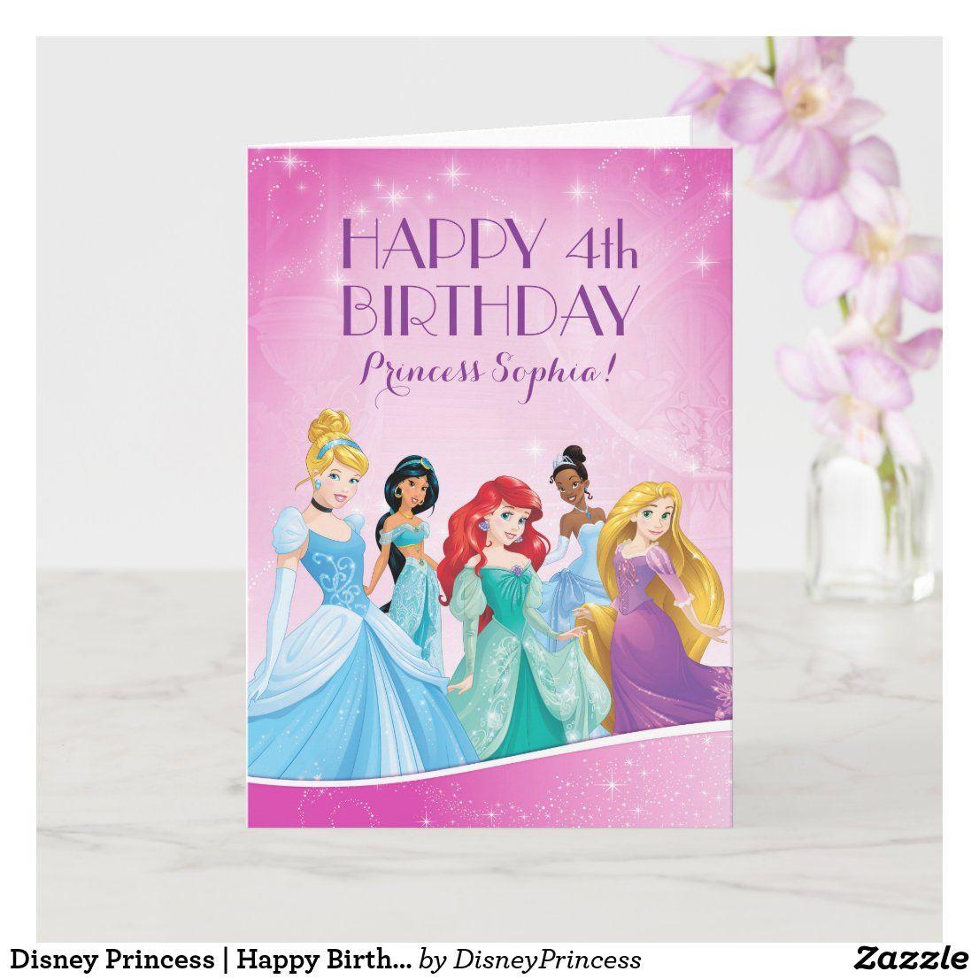 Disney Princess Happy Birthday Card in 2020