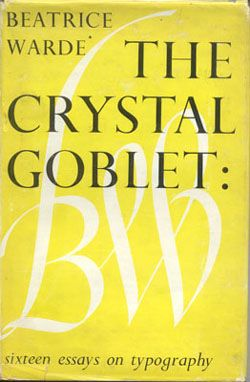 beatrice warde the crystal goblet essay