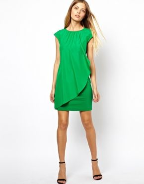 b07779a1c47de Image 4 of Ted Baker Dress with Asymmetric Frill