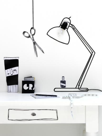 Gebastelte Schreibtischlampe