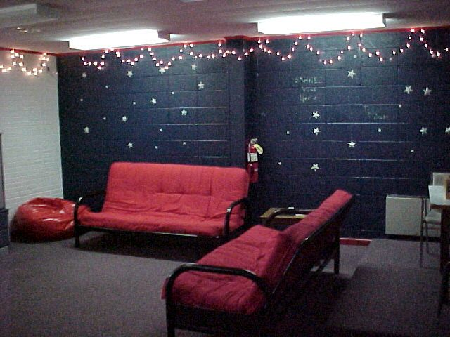 Christmas Lights Might Be Fun Youth Rooms Youth Ministry Room Youth Group Rooms
