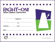 Free Printable General Music Award Certificates  Makingmusicfun
