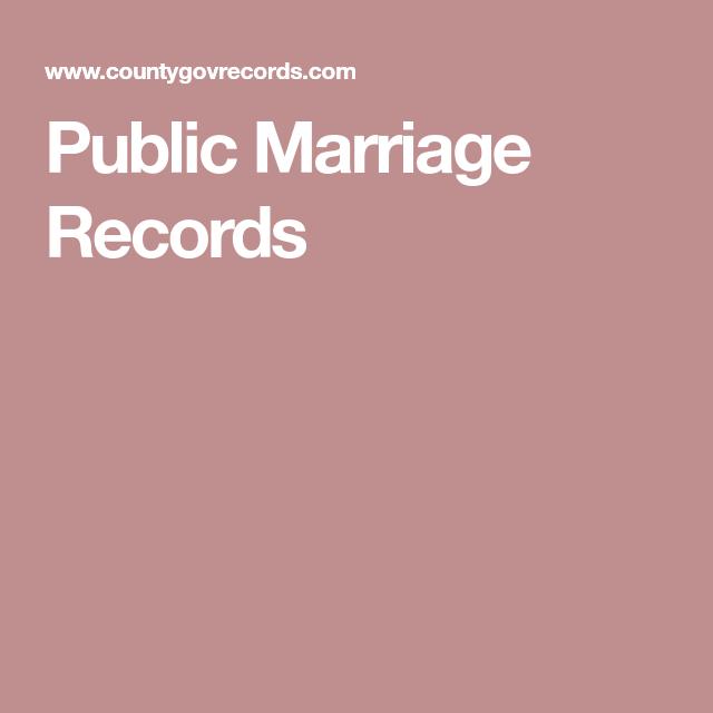 Public Marriage Records | Divorce Records | Marriage records