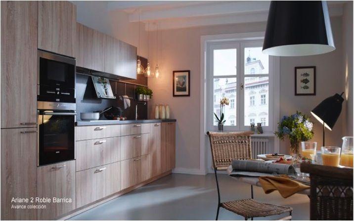 roble barrica nuevos colores en muebles de cocina Santos por Muebles ...