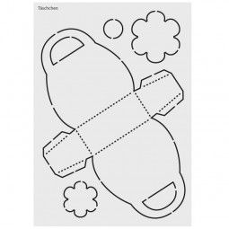 design schablone nr 7 t schchen din a4 geschenk verpacken pinterest basteln. Black Bedroom Furniture Sets. Home Design Ideas