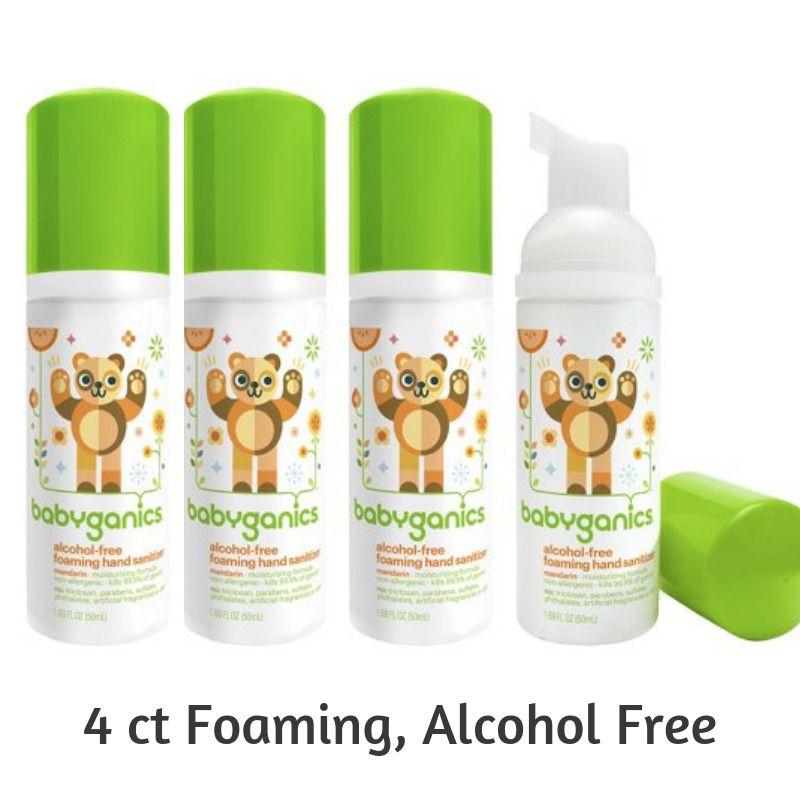Babyganics Alchohol Foaming Hand Sanitizer On The Go 1 69 Ounce