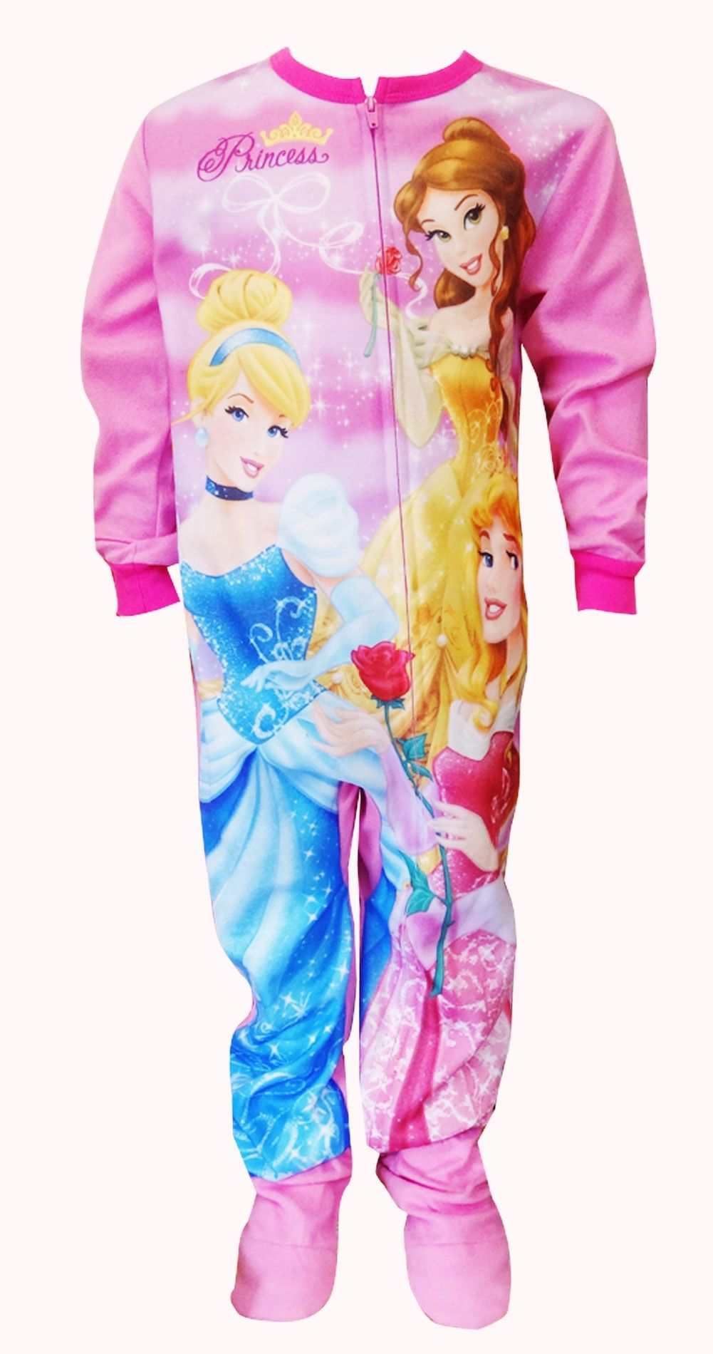 Disney Princess Pink Onesie Footie Pajama Sleeper Perfect for your little  princess as she heads off to dreamland! These flame r. e614a885e