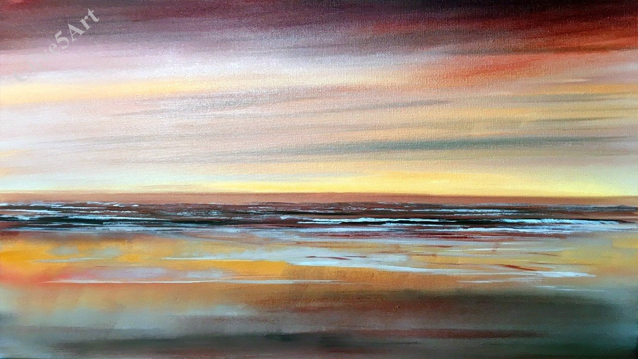 Easy Seascape Acrylic Painting Beginners Lesson Seascape