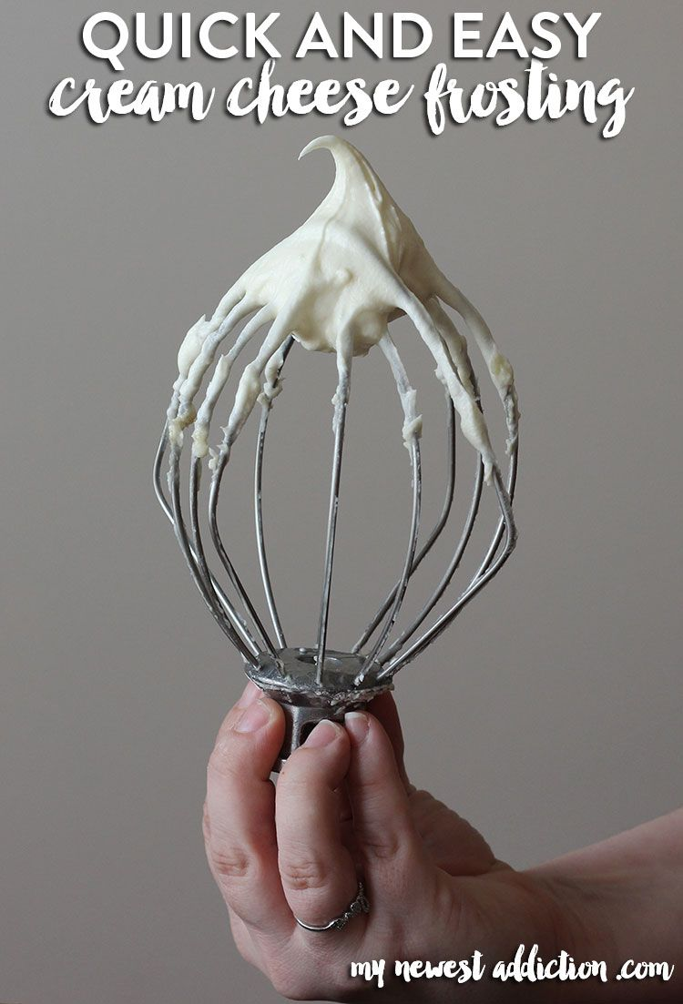Quick and Easy Cream Cheese Frosting - My Newest Addiction