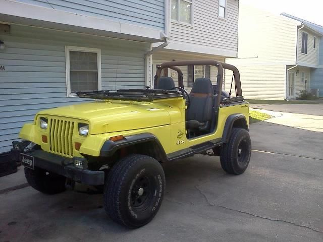 Jeep Yj Top Off Doors Off Windshield Down And Angry Eyes
