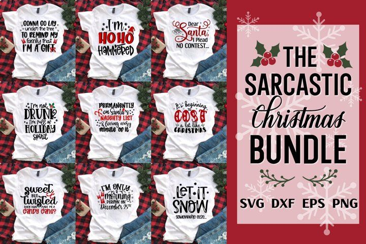 Sarcastic Christmas Bundle, Christmas Svg Bundle,