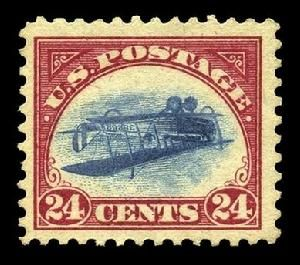 Inverted Jenny, one of the 'top 13 most valuable postage stamps in the world' by China.org.cn.