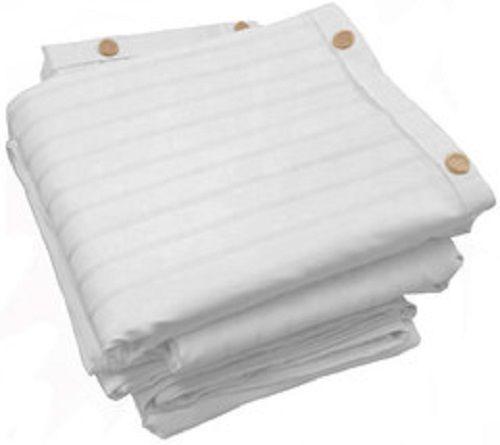 All Natural Whitened LuxuryStripe Sateen 400 TC Organic Cotton Duvet Cover #PureRest