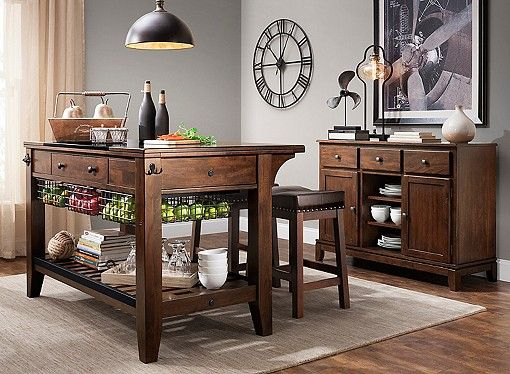 Kona 3Pckitchen Island Set  Nyc Apartment  Pinterest Prepossessing Islands Dining Room Decorating Inspiration