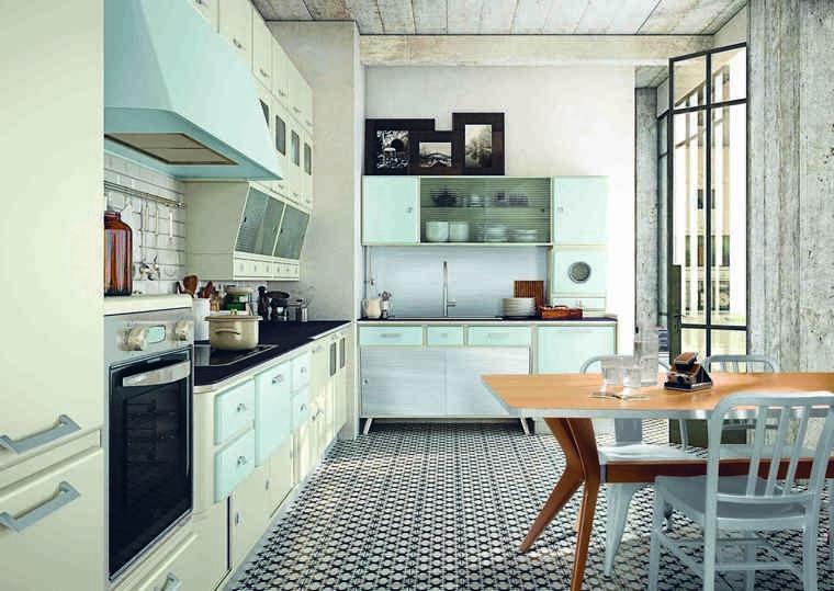 Déco cuisine rétro et campagne chic  33 idées à piquer Deco