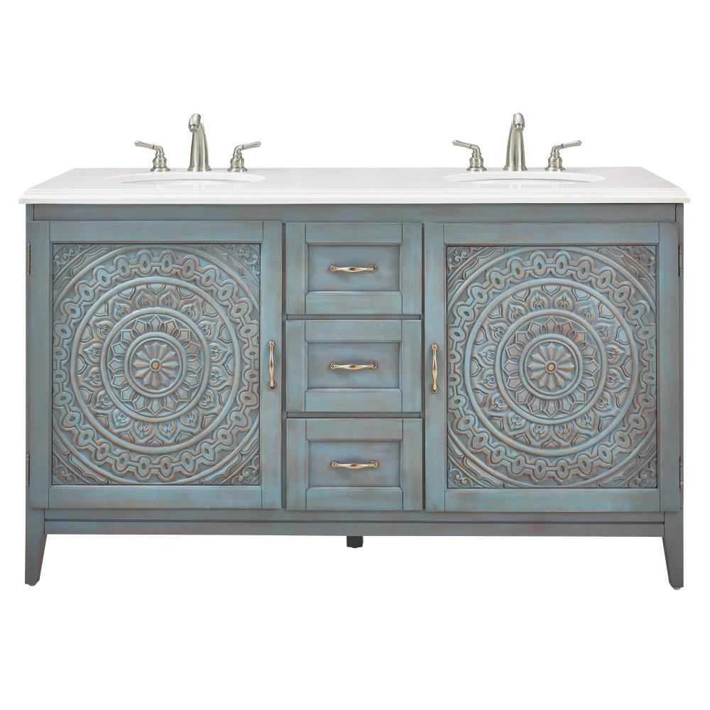 Home Decorators Collection Chennai 61 In W X 22 In D Bath Vanity