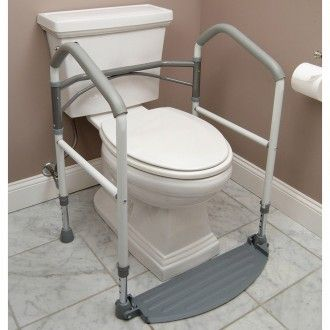 The Fold Easy Portable Toilet Frame provides safe support for people ...
