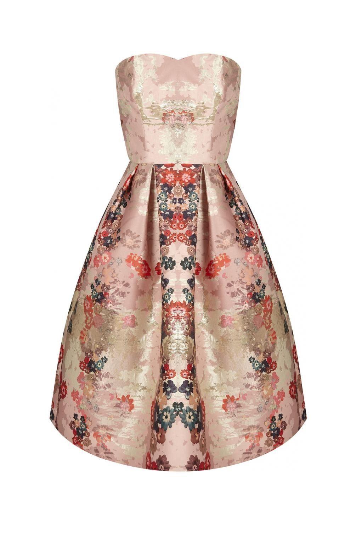 2706b7d6b4a02 Robe bustier jacquard imprime - robes femme - naf naf