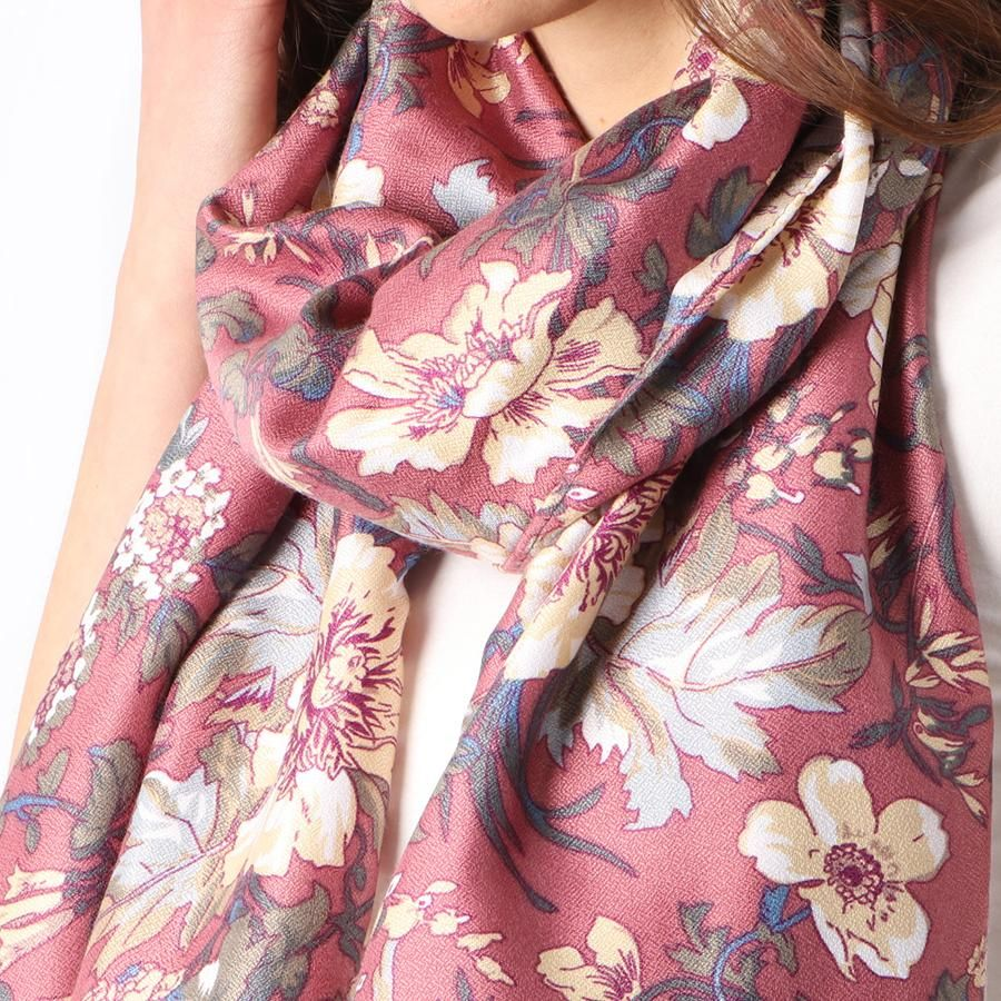 Ladies Scarf New Vintage Floral Print Spring Summer Fashion Style Scarves Shawl