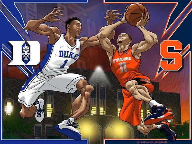 Basketball Cartoon Cuse Vs Duke Ii Syracuse Basketball