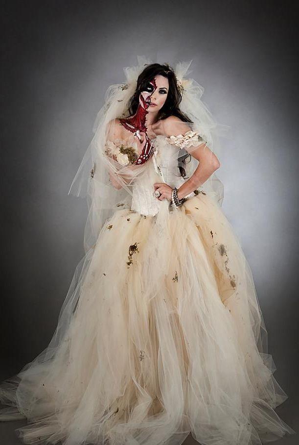 Zombie Bride Halloween Wedding Dress