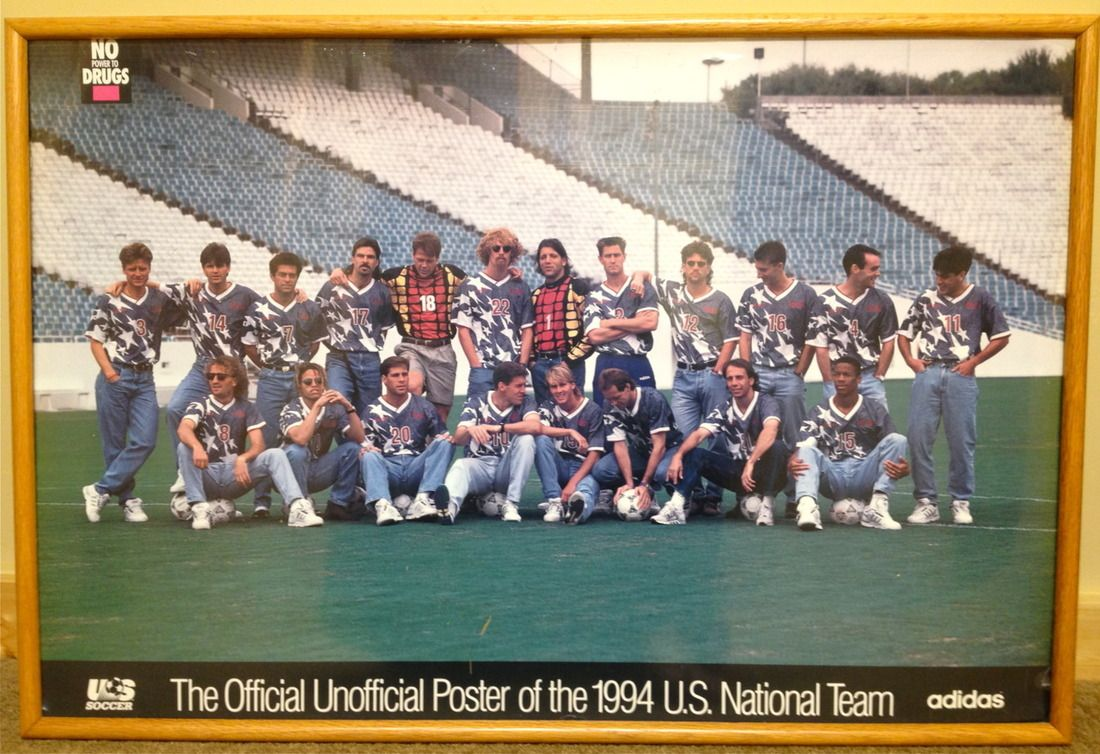 The 94 Usmnt World Cup Poster Is Unofficially Officially Amazing World Cup Teams World Cup Jerseys World Cup