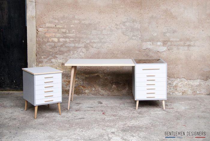 Bureau en bois et verre freya hellin