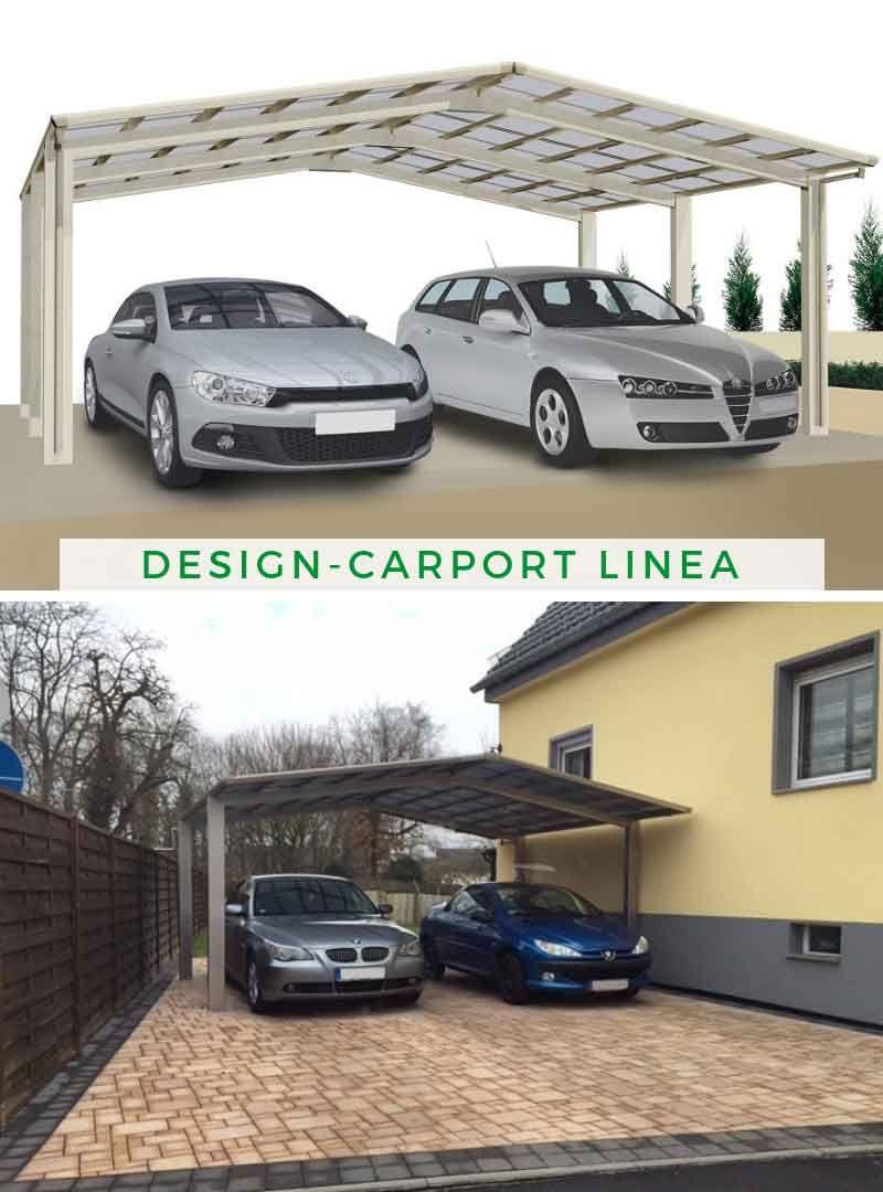 Ximax Design-Doppelcarport Linea 170 M-Ausführung ...