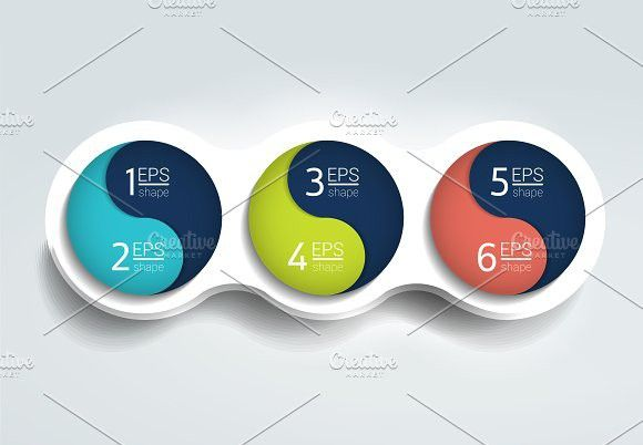 Three steps elements bubble chart Infographic Elements - bubble chart