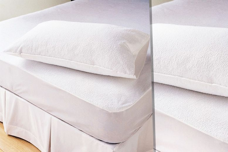 Terry Towel Waterproof Mattress Protector - 3 Sizes!  b9fac401f