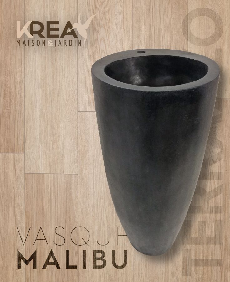 Vasque Sur Pied Malibu En Terrazzo 45 X 45 X 90 Cm Salledebain Interieur Vasque Terrazzo Decoration Salle De Bain Meubles En Teck Mobilier De Salon