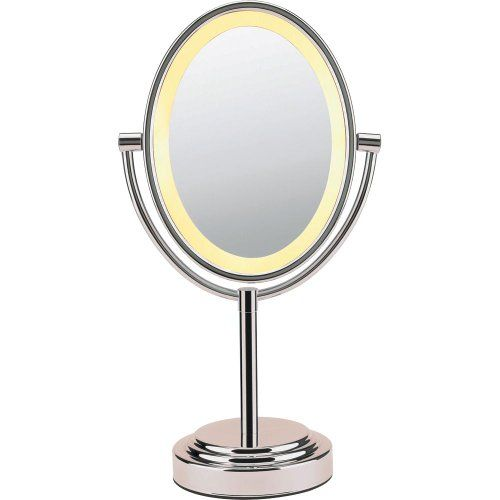 Conair Be47snt Double Sided Illuminated Oval Mirror Satin Nickel