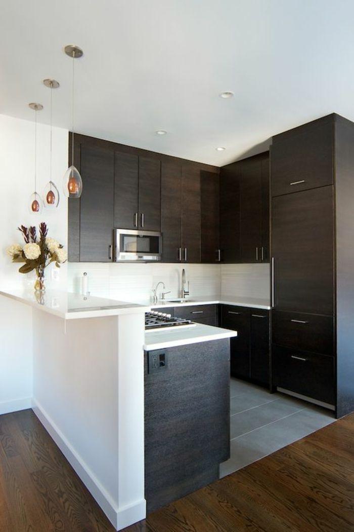 1001 id es pour une petite cuisine quip e des int rieurs gain de place petits espaces - Mini cuisine equipee ...