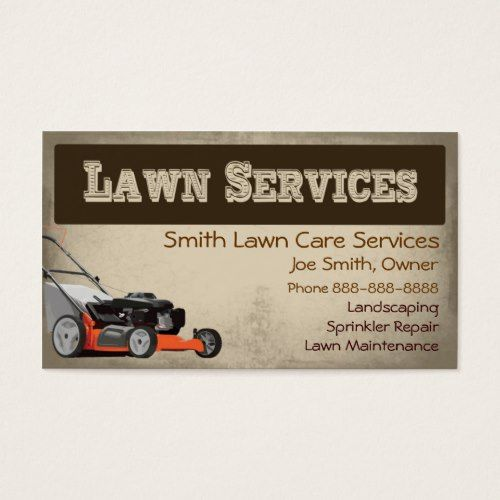 Lawn Care Landscaping Services Business Card | Zazzle.com