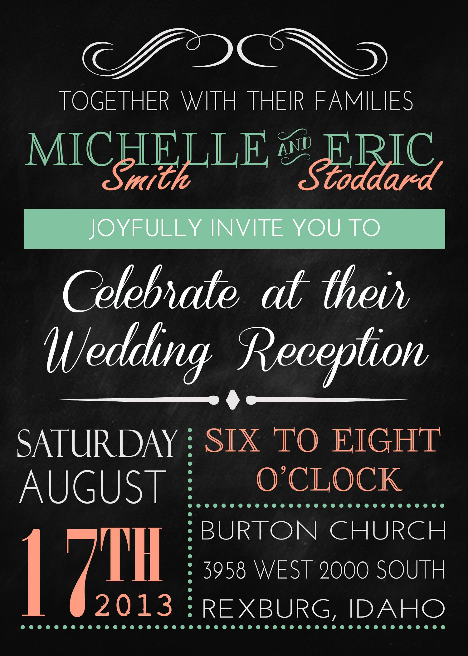 Vintage Chalkboard Inspired Wedding Invitation Great To Convert