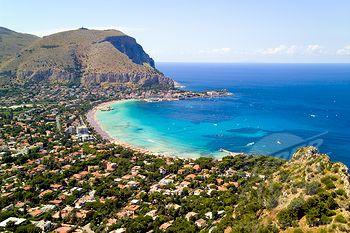 Bay Of Mondello A Por Beach Resort Right Outside Palermo Sicily