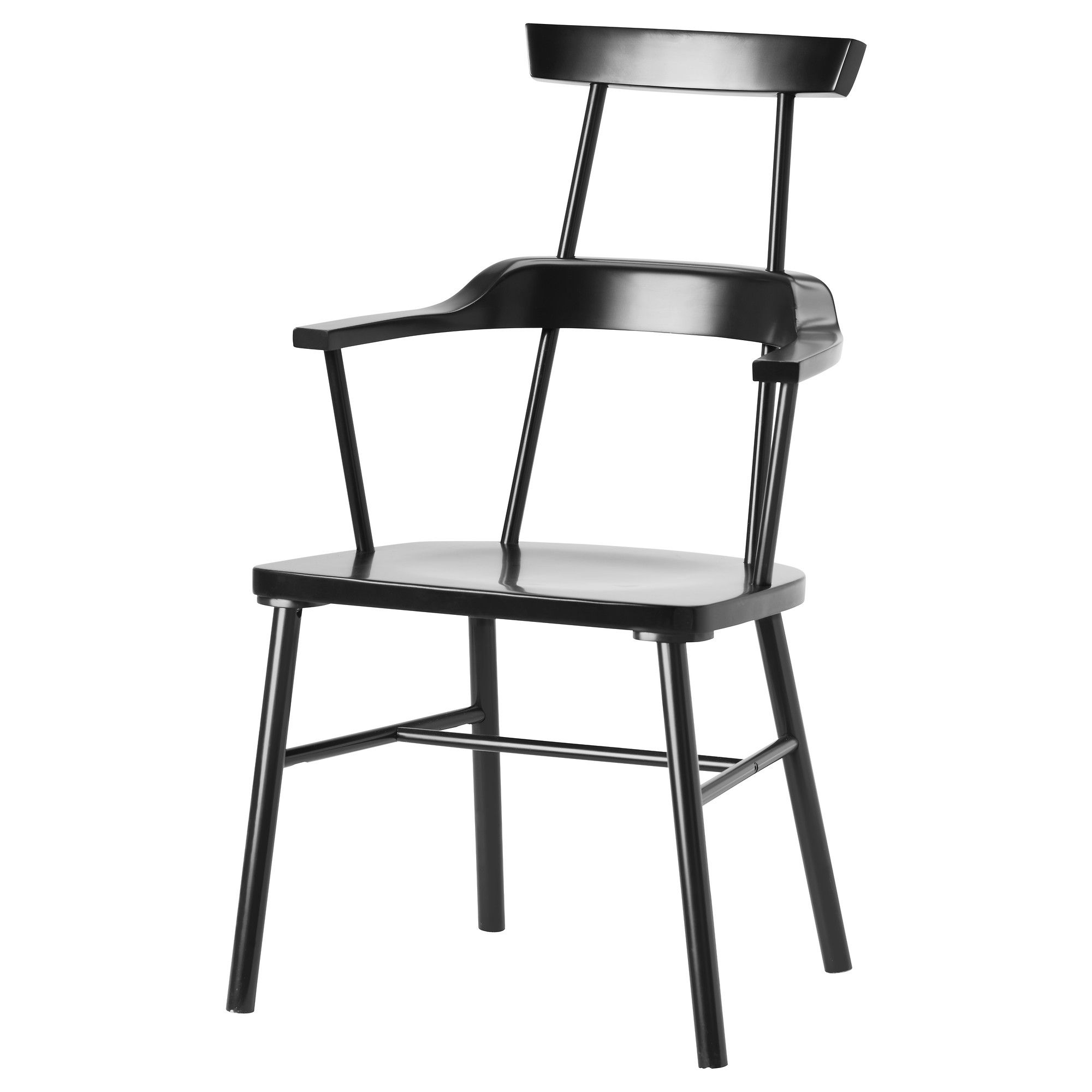 Black ikea chair - Ikea Ps 2012 Chair With Armrests High Back Ikea