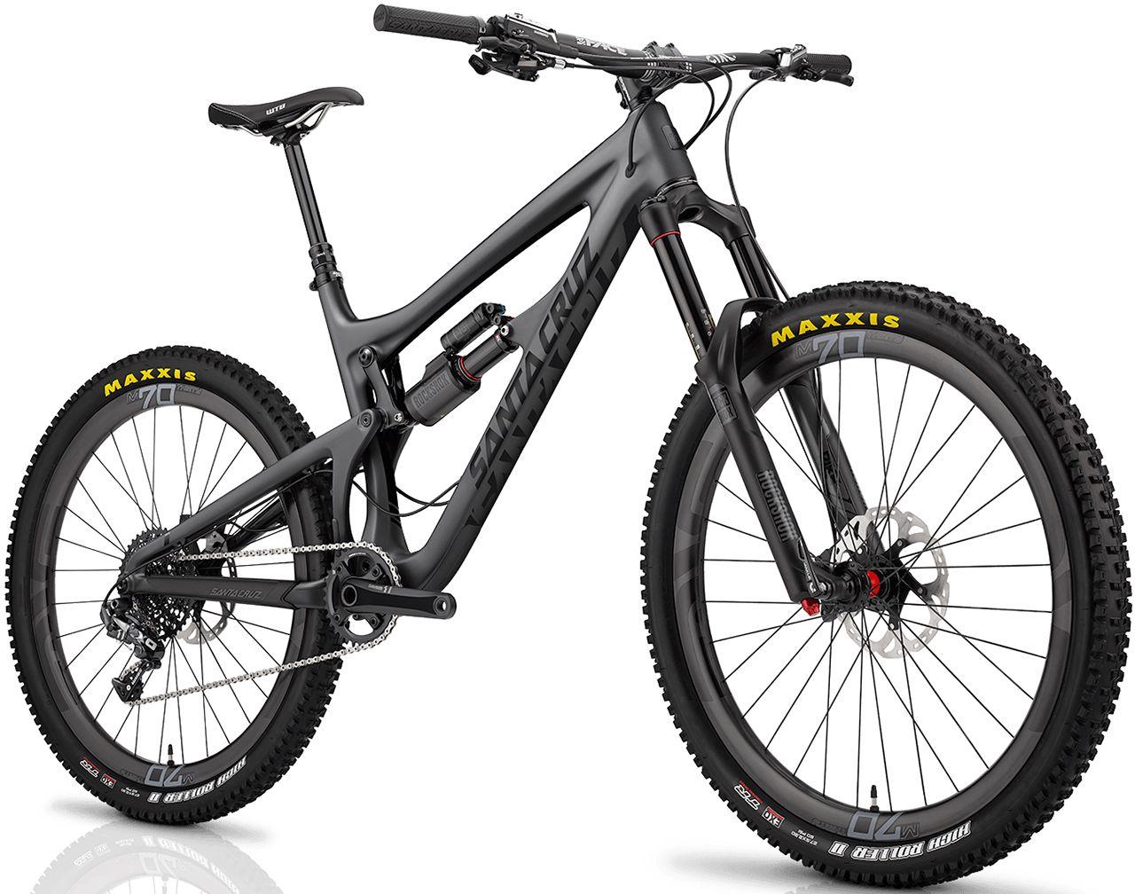 Santa Cruz Nomad Carbon 650b Matt Carbon Black Mtb Enduro