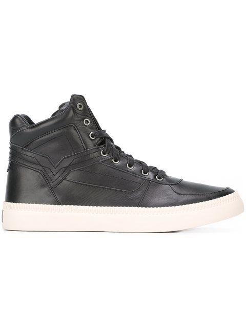 DIESEL 'S-Spark' Hi-Top Sneakers. #diesel #shoes #