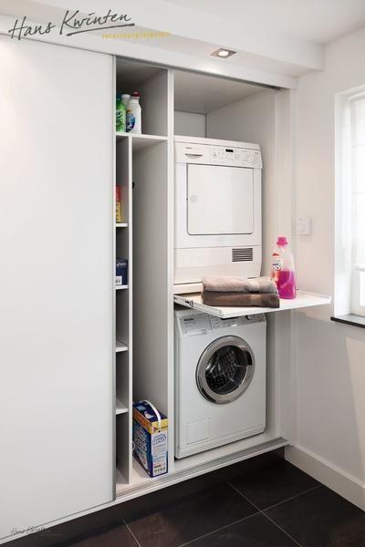 mooi weg gewerkt achter schuifdeuren laundry room pinterest waschk che praktisch und f r. Black Bedroom Furniture Sets. Home Design Ideas