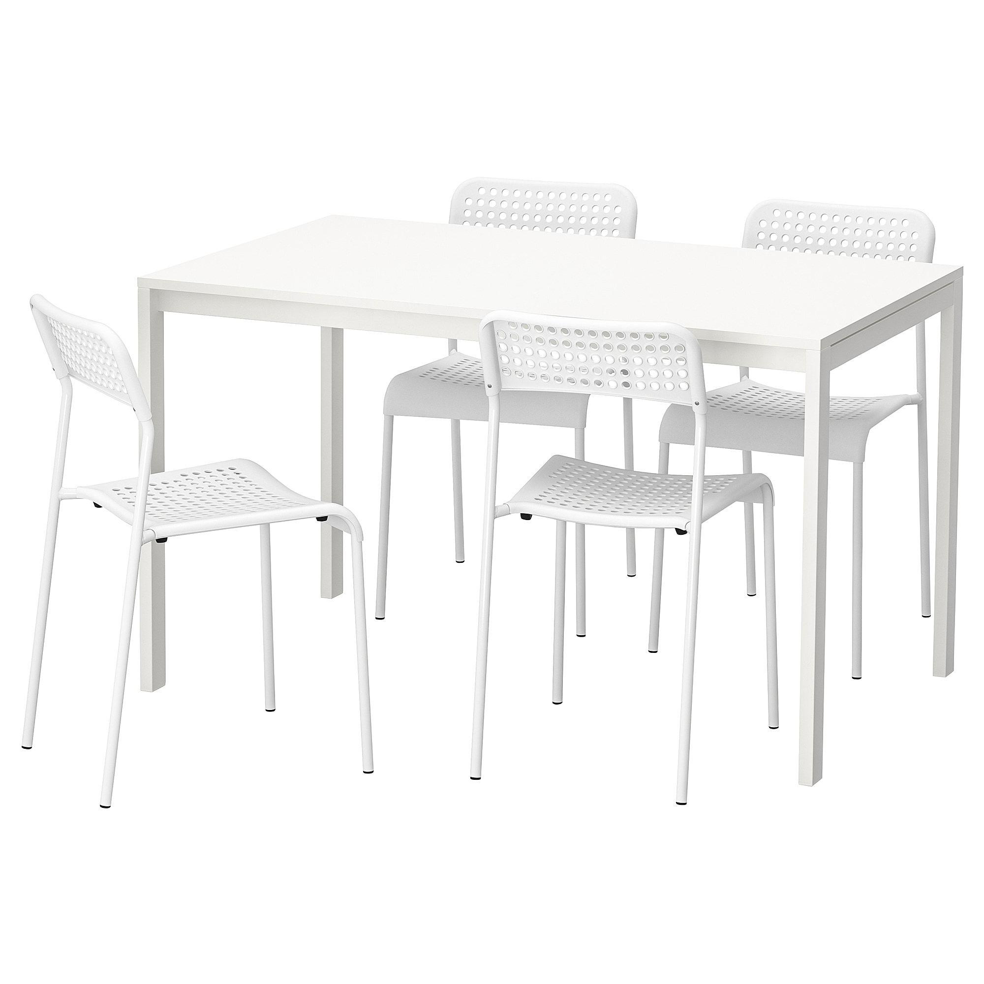 Melltorp Adde Tisch Und 4 Stuhle Weiss Products In 2019
