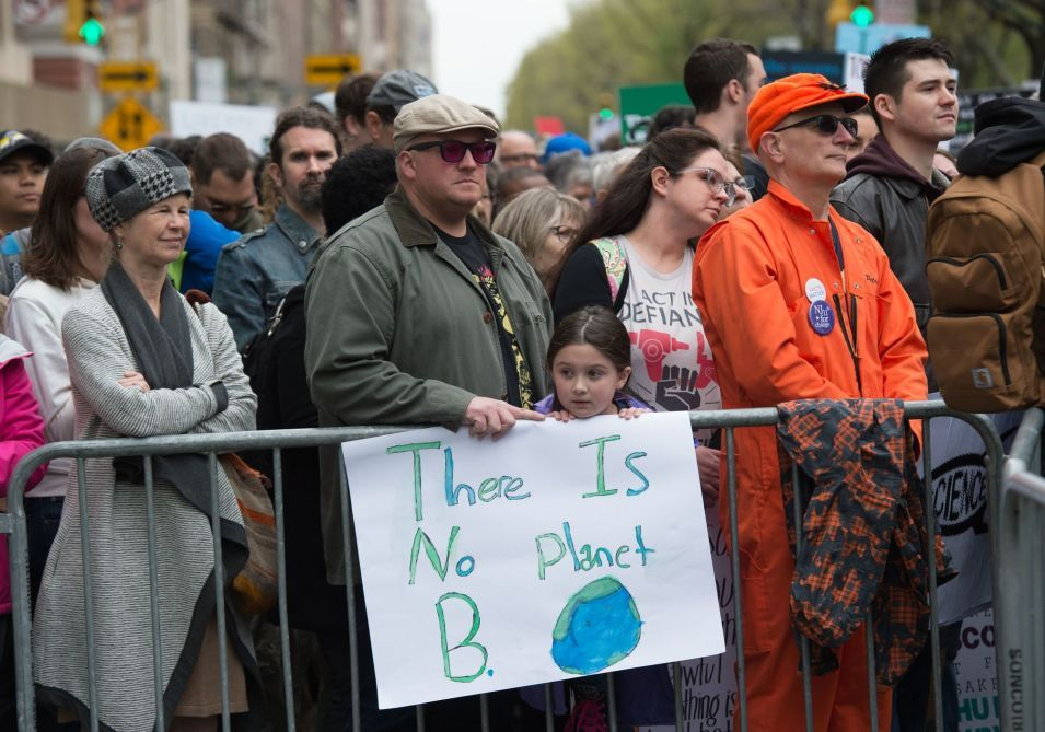 Demonstrators Wait Along Central Park West On Saturday March For Science Photo Earth Photos
